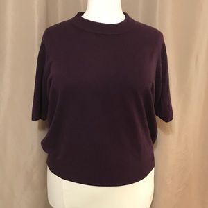 Purple Sag Harbor Short sleeve sweater size 2X